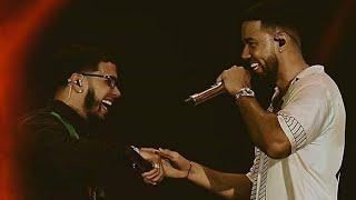 Romeo Santos Y Anuel Aa Concierto Republica Dominicana 2018 Ella Quiere Beber Remix Culpables