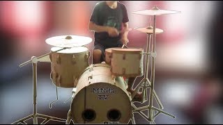 Cardboard Drum Kit Build Video
