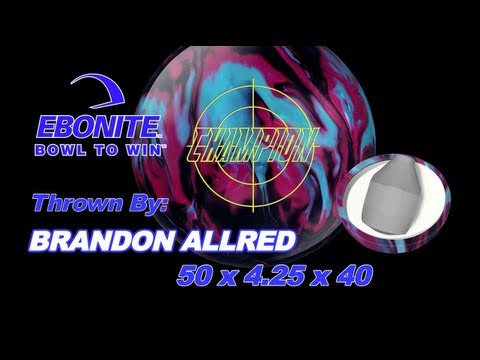 Ebonite Champion &amp  Challenge   Usbc Open Championship 2013 Team Pattern   Bowling Ball Comparison