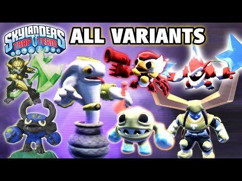 All Skylanders Trap Team Variants! King, Nitro, Winterfest, Eggscellent, Power Punch, Gnarly, Elite