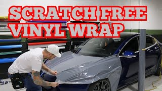 SCRATCH FREE Vinyl Wrap! Tesla Model 3 Front Fender Wrap Nardo Grey real-time