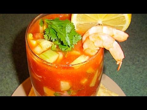 COCTEL de CAMARONES (mariscos) receta- Complaciendo Paladares