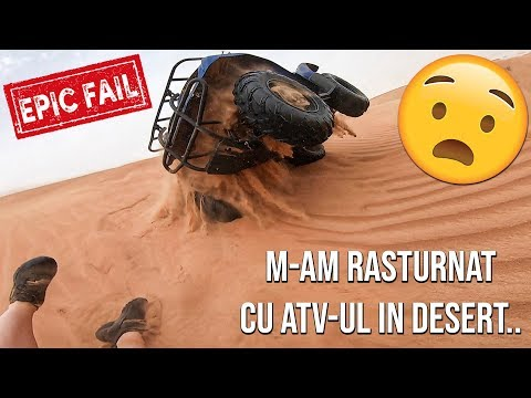 M-AM RASTURNAT CU ATV-UL IN DESERT..