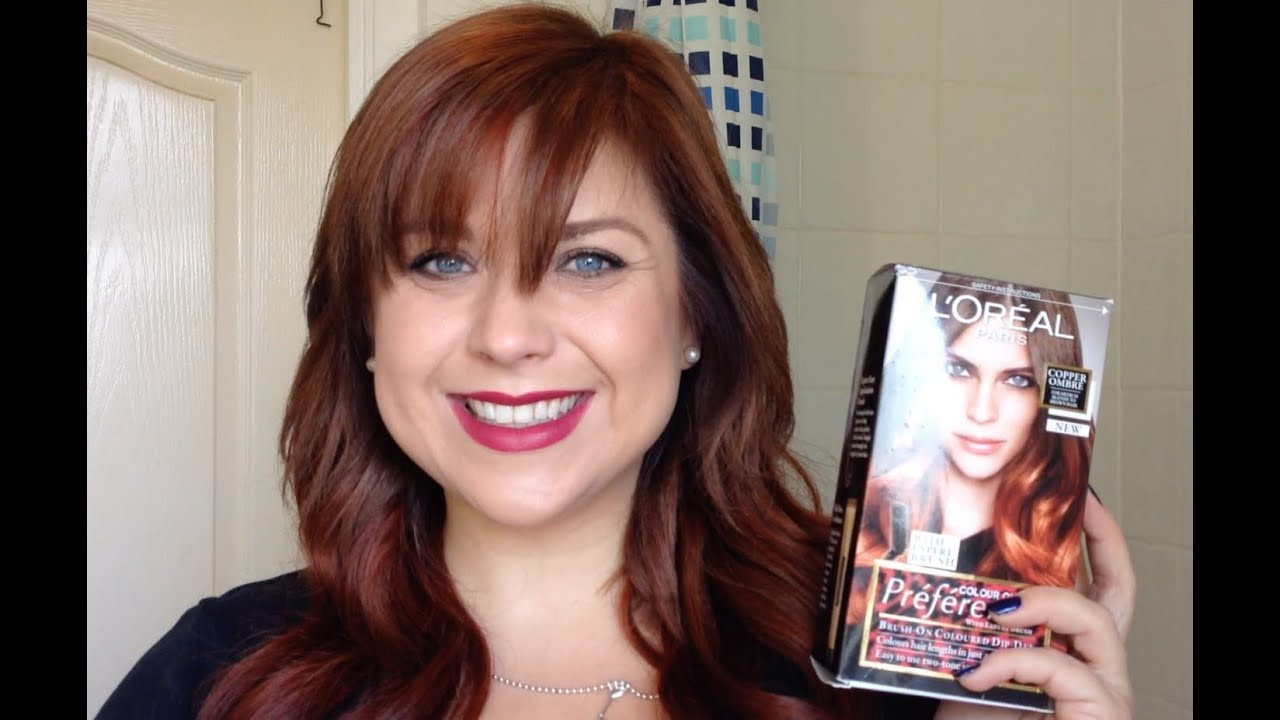 review loreal preference colour ombre in copper ombre