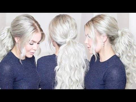 HOW TO LONG & VOLUMINOUS PONYTAIL WITH EXTENSIONS | AMALIE GABS