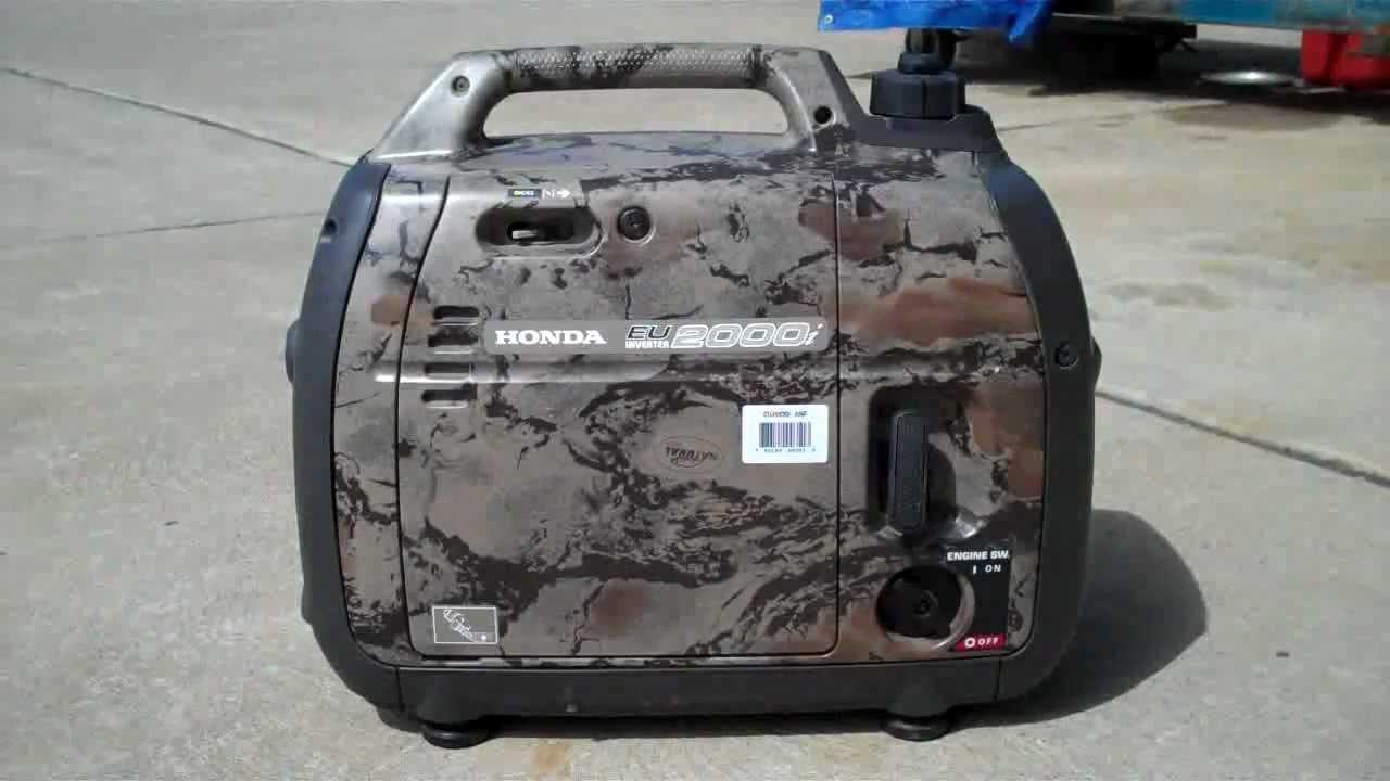 Honda generator eu2000i camo vibrates in eco mode - YouTube