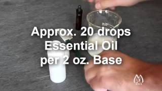 Adding Essential Oil to Unscented Balm