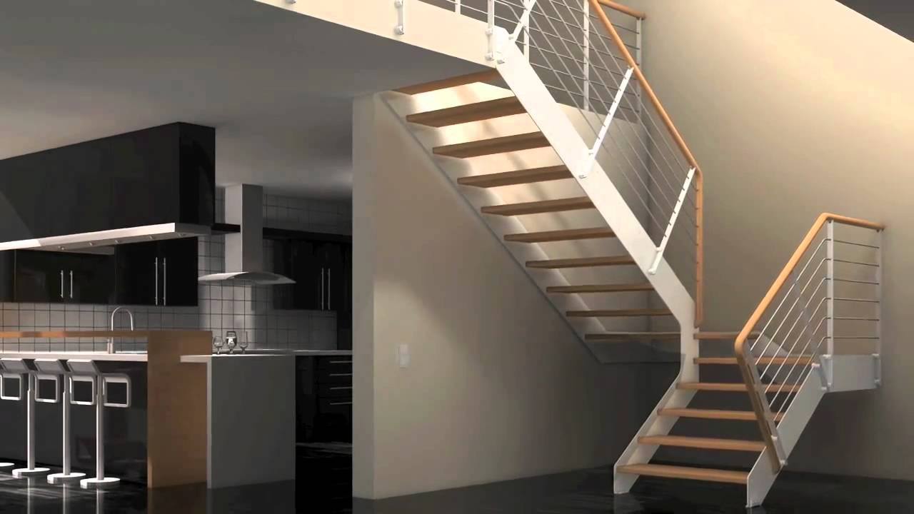 Escaleras idealkit youtube for Modelos de gradas para casas