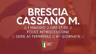Serie A1F [4^ Poule Retrocessione]: Brescia - Cassano Magnago 20-17
