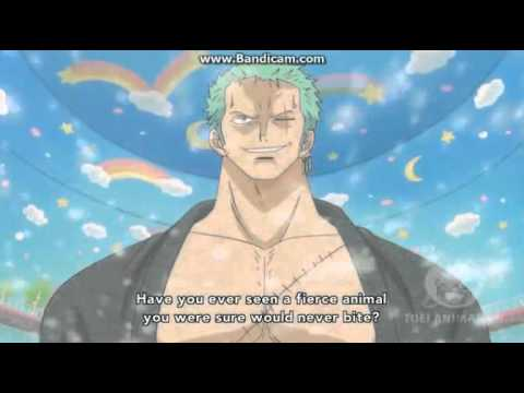 Zoro saves Tashigi and defeats Monet