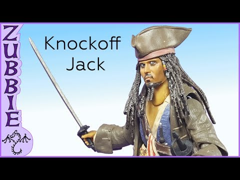 Knockoff Captain Jack Sparrow Action Figure Review, SH Figuarts Bootleg Toy Review