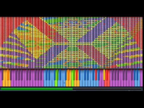 [Black MIDI] Synthesia - Armageddon to Archeopterix and Icaria 3