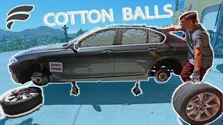 1,000,000 COTTON BALLS IN CAR PRANK!