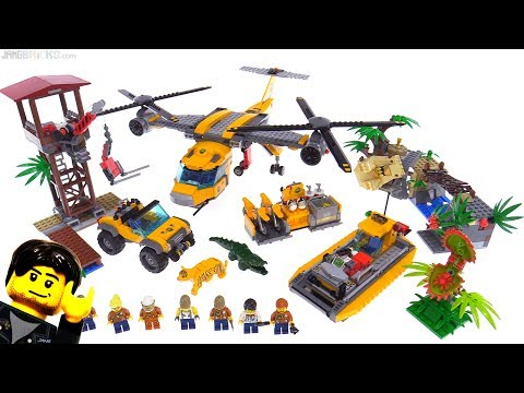 LEGO City Jungle Air Drop Helicopter playset review 🐯 60162