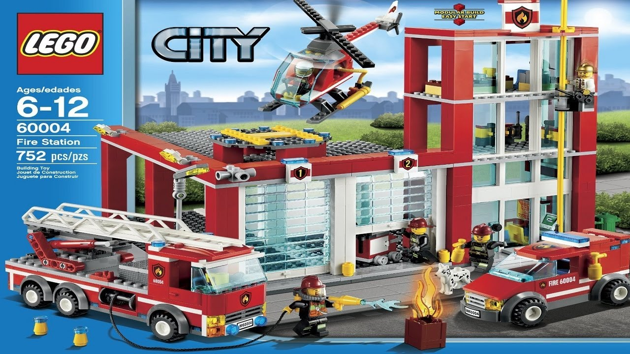 LEGO City Instructions For 60004 - Fire Station - YouTube