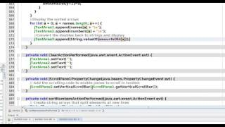 Java Netbeans GUI for sorting strings and doubles.  Part 2 of 2