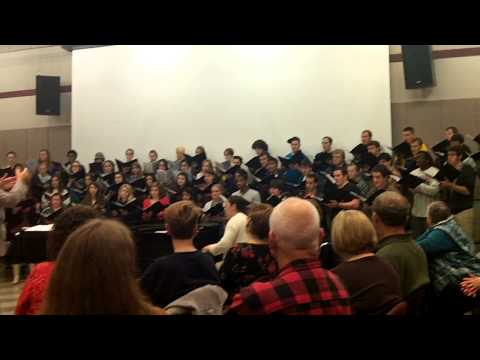 Augustana College, Rock Island, IL choir at choir reunion and music jam 10/13/12