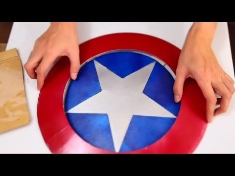 #43: Captain America's Shield DIY 1/2 - Print & Cut 'Cardboard' (PDF template)