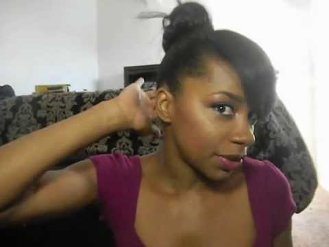 Crochet Hair Ponytail : Crochet braid( high bun and bang) - YouTube