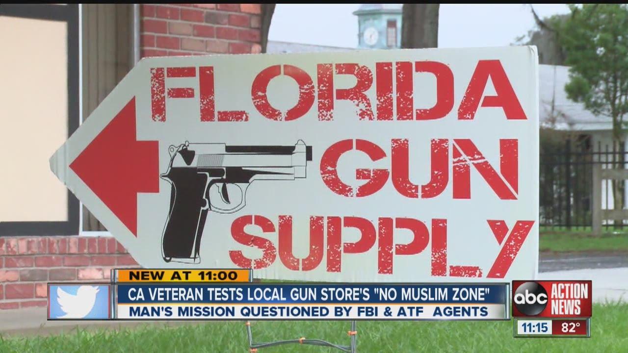 "Vet tries to test gun shop's ""Muslim free zone"""