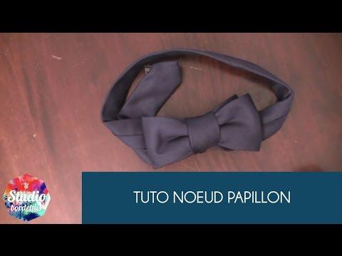 Tutorial noeud papillon avec une cravate le studio for Tutorial papillon