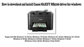 How to download and install Canon MAXIFY MB5160 driver Windows 10, 8.1, 8, 7, Vista