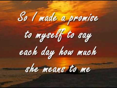 If Tomorrow Never Comes - Ronan Keating   Lyrics video