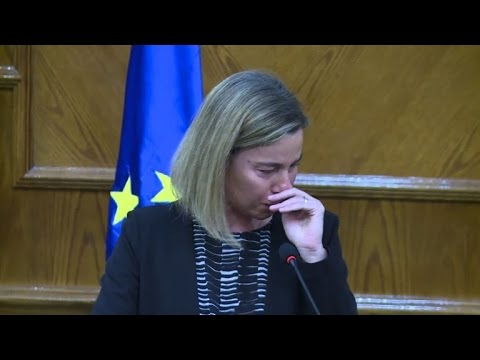 EU's Mogherini in tears over Brussels attacks