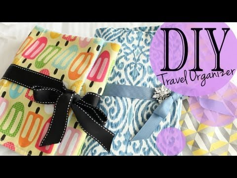 DIY Travel Accessory & Makeup Brush Organizer Tutorial   ANNEORSHINE