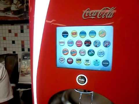 new soda machine at burger king youtube