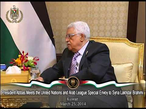 President Abbas Meets the United Nations and Arab League Special Envoy to Syria Lakhdar Brahimi