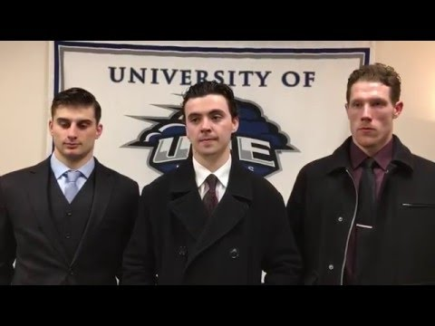 UNE Men's Ice Hockey: Interview after Game vs. Southern Maine