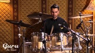 Guru In-Tense series English Ash drums. Featuring David Floegel.