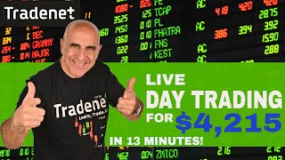 Live Day Trading for $4,215 in 13 Minutes!