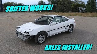 Twin Turbo Mr2 Moves Under Its Own Power!