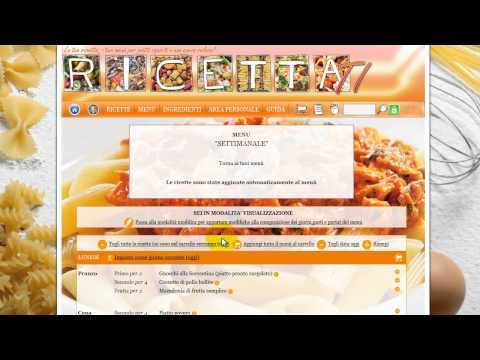 Ricettati.it –  Riempire automaticamente un menù