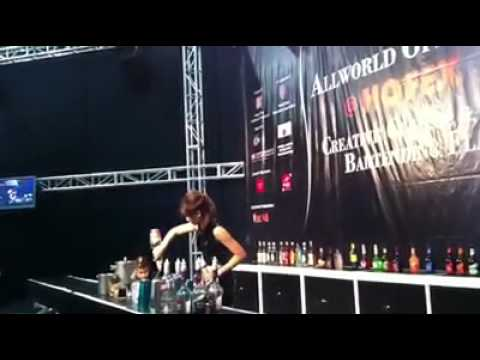 Hofex All world open cup 2011 creative bartending & flairtending competition - Jackie Lo
