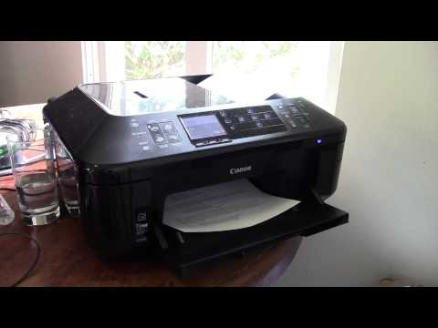 Canon PIXMA MX892 All-in-One Officejet Printer Overview. Demo. and Review