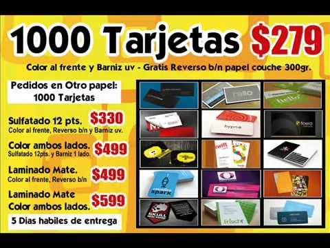 Tarjetas a color Economicas a todo Monterrey