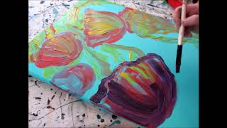 Colorful Jellies Drip Painting by Whitney LaRene