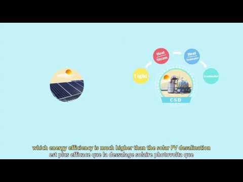 """Low Carbon & Eco Friendly Concentratin Solar Thermal Dsalination  Shanghai Join in Energy Technolo"