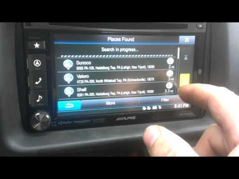 Alpine INA-W900BT INA-W9navigation receiver and Bluetooth