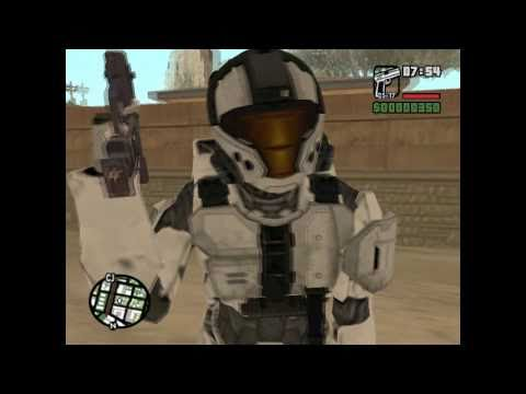 GTA SA halo mod(DOWNLOAD INCLUDED!!)