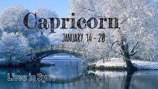 """CAPRICORN JAN 14 -20 """" THEY SEE YOU IN A BEAUTIFUL LIGHT """" 2019 Weekly Tarot Reading"""