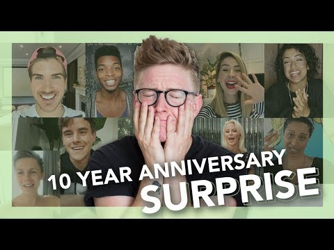 10 YEAR SURPRISE REACTION | Tyler Oakley thumbnail