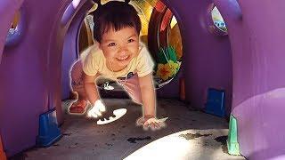Bé đi học về chơi khu vui chơi cho bé ở trường nầm non❤Ngân hà TV❤