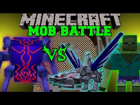 KNIGHT BUG VS MUTANT ZOMBIE & CEPHADROME - Minecraft Mob Battles - Mods