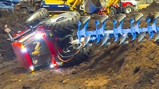 SPINNING WHEELS AND RC TRACTOR CRASH!! RC MODEL TRACTORS IN INCREDIBLE ACTION