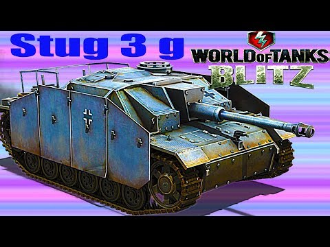 WoT Blitz обзор ПТ САУ Stug 3g немецкая ПТ САУ новичкам немецкая ветка World of Tanks Blitz#71