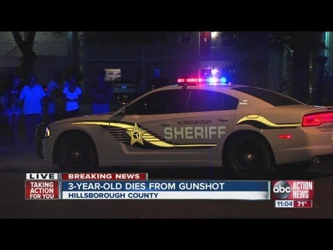 Three-year-old Tampa boy shot dead